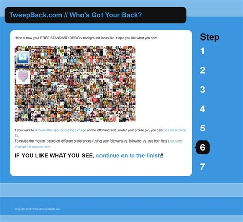 twitter layout maker tweepback com generator creates a custom mosaic background