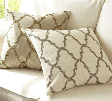 pottery barn sofa pillows rustic luxe sequin tile pillow cover pottery barn