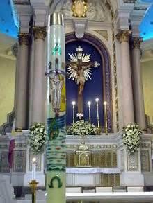 vigil lights catholic church paschal candle
