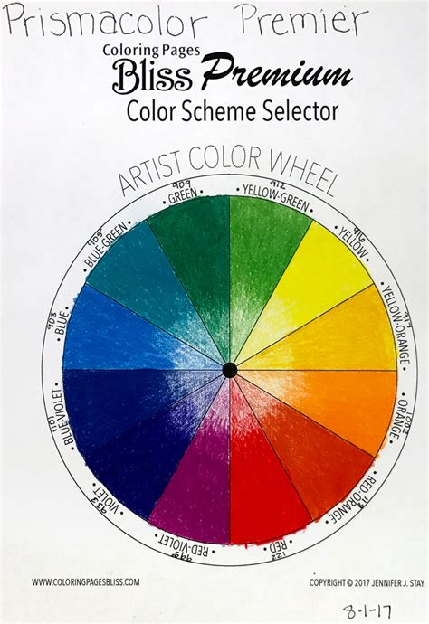 color wheel tri tone sets worksheets