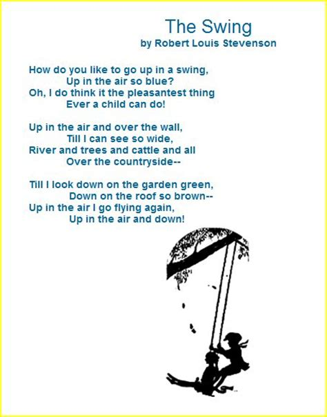 boy on a swing poem oli s skene clan family and friends robert louis