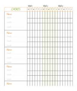 Chores Template by Doc 750578 Chores Schedule Template Free Chore