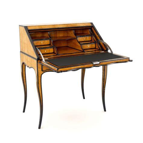 antique wooden escritoire letter desk 3d model cgtrader