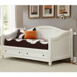Daybed With Storage Underneath White Wood Daybed Decofurnish