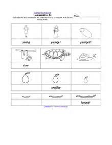 comparative and superlative adjectives worksheet printout