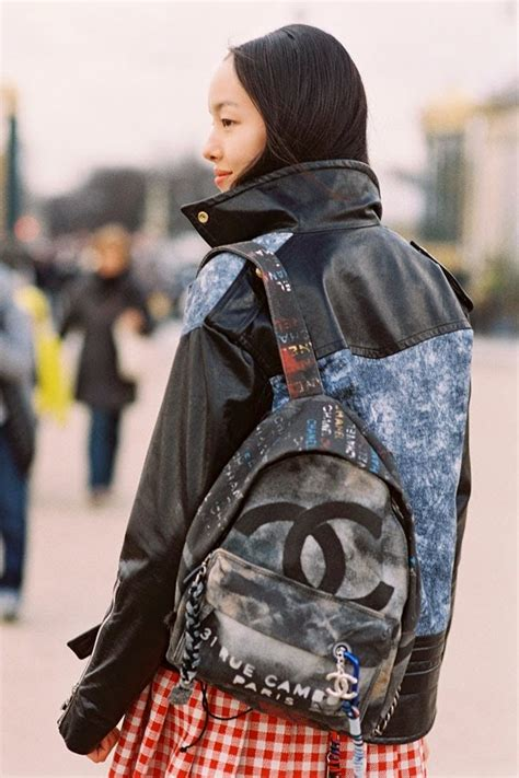 chanel graffiti backpack front row