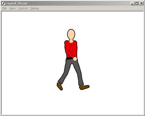 ragdoll 3d model gotoandplay flash tutorials skeletal animations