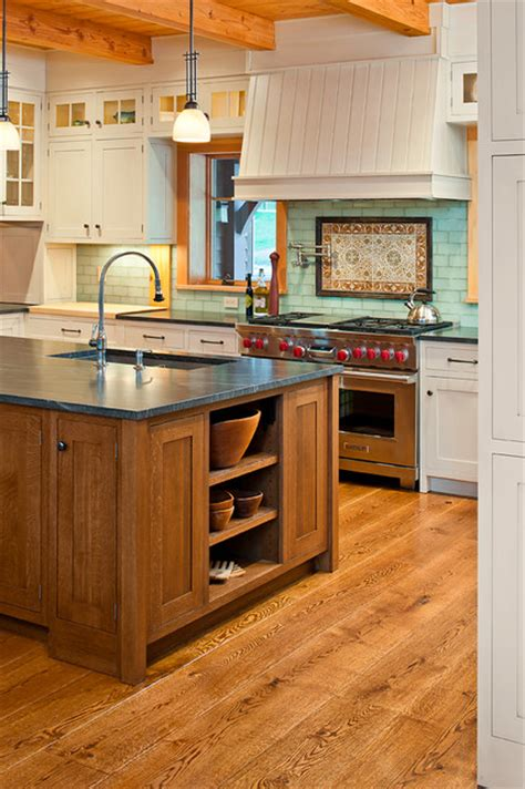 white oak kitchen wood flooring traditional