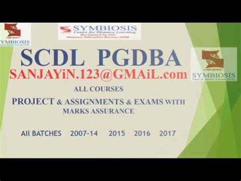 Scdl Mba by Scdl Assignment Scdl Login Scdl Solved Paper Scdl