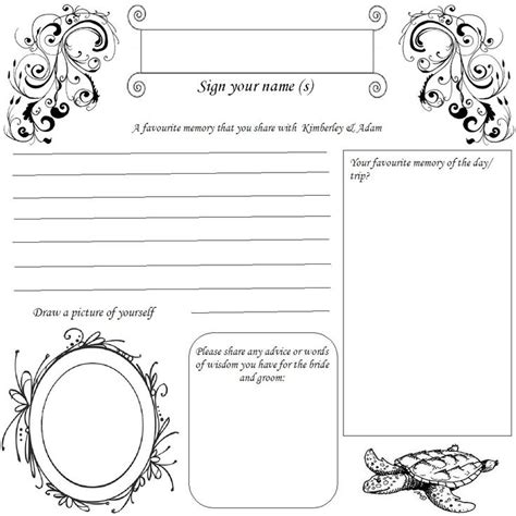 guest book cards template 34 best dyi printable wedding guest book alternative