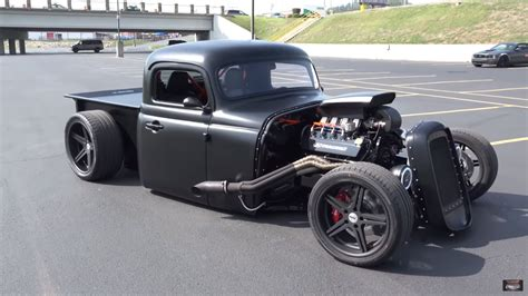 custom 1956 international truck with a mustang powertrain