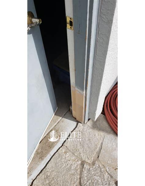 fascia   base   garage door jambs dry