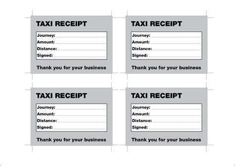 Taxi Receipt Template by 8 Taxi Receipt Template Authorizationletters Org