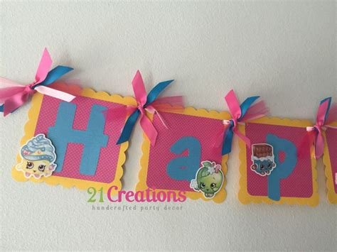 Bunting Flag Shopkins Bendera Happy Birthday Shopkins Custom Nama 14 best images about birthday ideas on birthday cakes personalized banners and