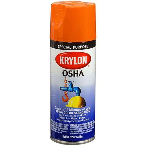 spray paint standards 12 oz krylon 2410 safety orange osha apwa color standard