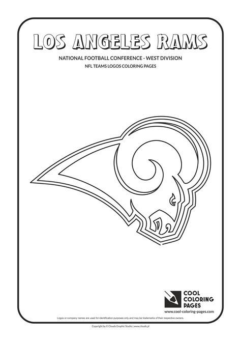 Los Angeles Rams Nfl American Football Teams Logos St Louis Rams Coloring Pages
