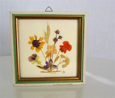 Country Cottage Wall Decor by Vintage Wall Decor Pressed Wildflowers Country Cottage