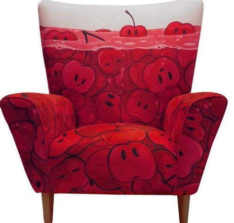 fun armchairs fruity fun furniture cherries wingchair