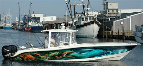 offshore fishing boat graphics hydra 33 foot boat wrap by artful signs inc boat wraps