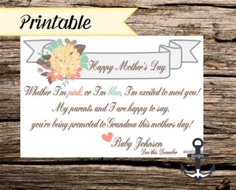 mothers day pregnancy announcement pregnancy announcement s day promoted to