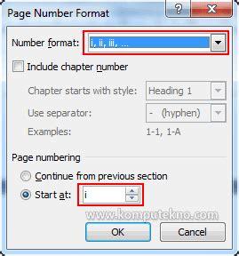 membuat nomor halaman dengan format berbeda t i k kelas x sma muhammadiyah pangandaran