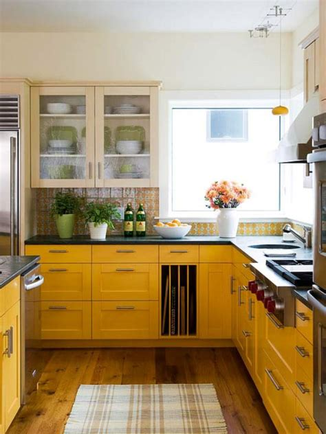 yellow kitchen cabinet 15 bright and cozy yellow kitchen designs rilane