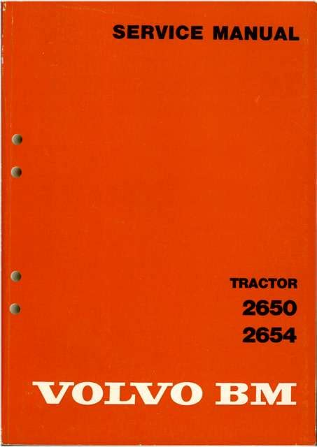 volvo bm tractor   service workshop manual
