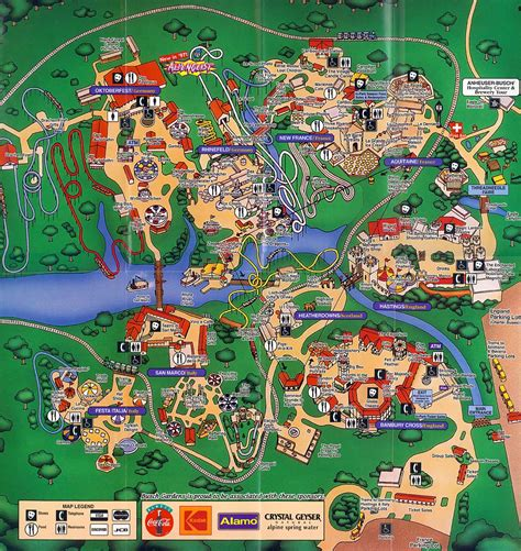 busch gardens map theme park brochures busch gardens williamsburg theme park brochures