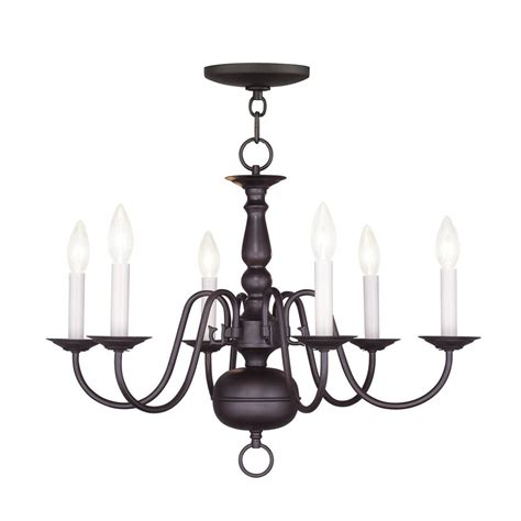 williamsburg chandelier shop livex lighting williamsburg 24 in 6 light bronze