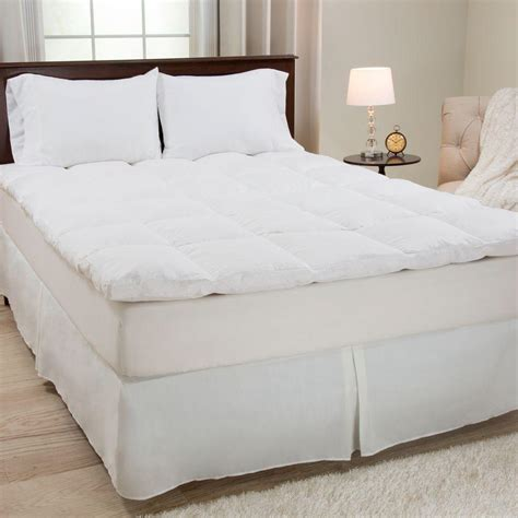 king size feather bed lavish home king size 2 in h 100 duck feather mattress