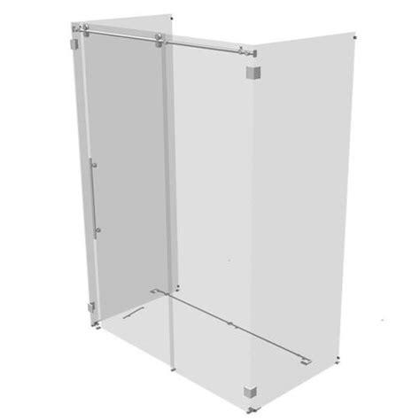 Rolling Shower Door by Kinetik Three Sided Rolling Shower Door 3d Model