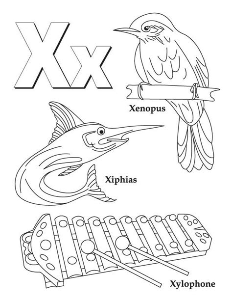 Letter X Coloring Pages Preschool by My A To Z Coloring Book Letter X Coloring Page