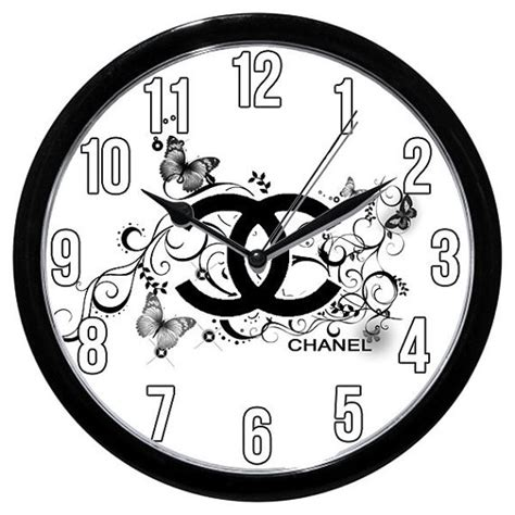 High End Wall Clocks Chanel Couture High End Wall Clock Frisbee Disc By