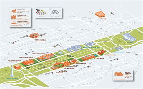 washington dc map of national mall map of smithsonian museums on or near the national mall