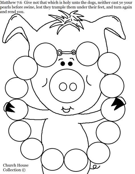 free pig pancake coloring pages