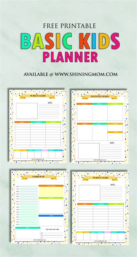 free printable mom planner 2016 free printable kids planner cute and colorful