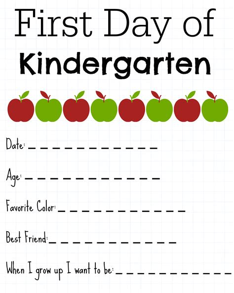 activities kindergarten first day free first day of school activities for kindergarten 265