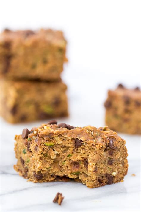 protein zucchini zucchini chocolate chip protein bars healthy