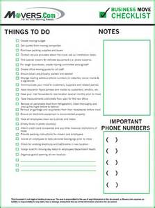 business relocation to do list