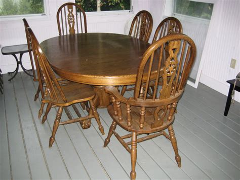 oak dining room table and chairs dining table used oak dining table chairs