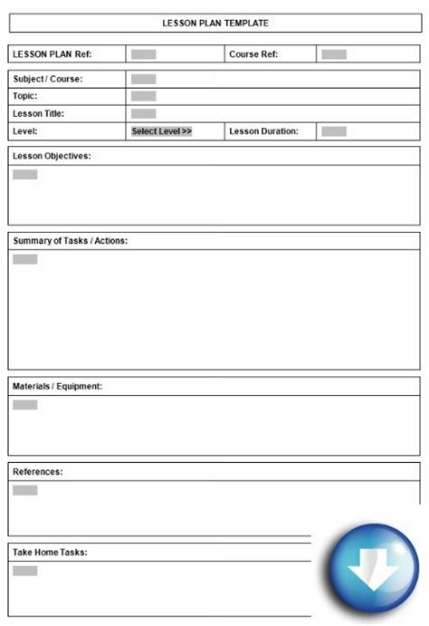 templates for lesson plans free downloadable lesson plan format using microsoft word