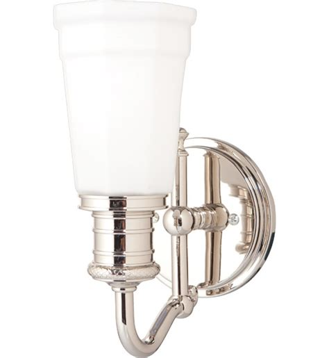 polished nickel bathroom sconces hudson valley 2501 pn bradford polished nickel 1 light