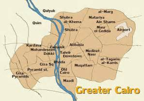 map and info about greater cairo giza and cairo