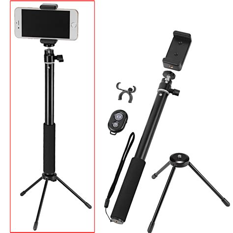 Ro5 Tongsis Remote Selfie Tripod Monopod Controller For Iphone neewer 174 monopod selfie stick with mini tripod stand wireless remote ebay