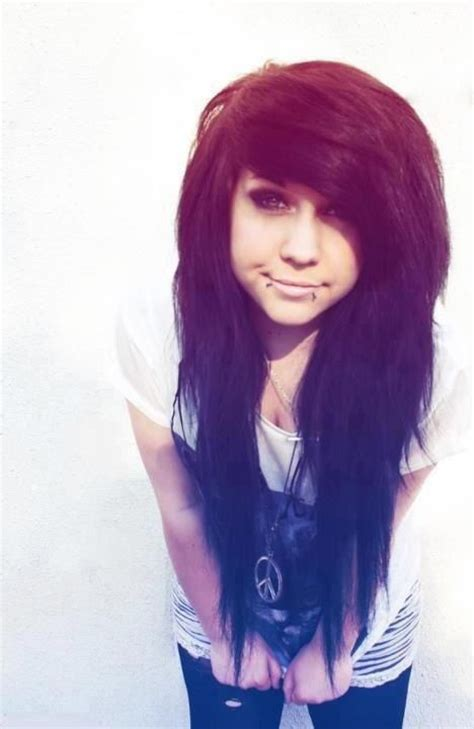 emo hairstyles without bangs 208 best images about side swept bangs with long hair
