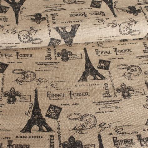 patterned hessian fabric printed hessian fabric paris