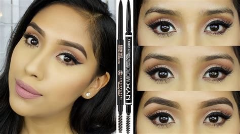 Colourpop Microbrow Jet Set Black Pencil eyebrow routine how to thread shape and shade in brows