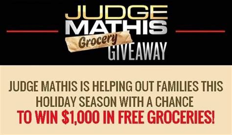 Judge Mathis Sweepstakes - judge mathis tv groceries giveaway sweepstakesbible