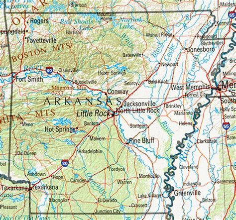 map of arkansas and texas arkansas maps perry casta 241 eda map collection ut library