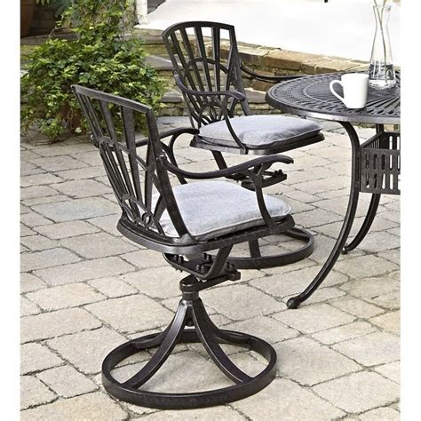 patio dining chairs with cushions patio swivel dining chair with cushion in charcoal 5560 53c